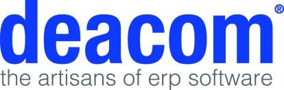 Deacom Logo - the artisans of erp software